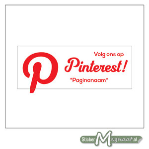 Pinterest Banner Sticker (Wit)