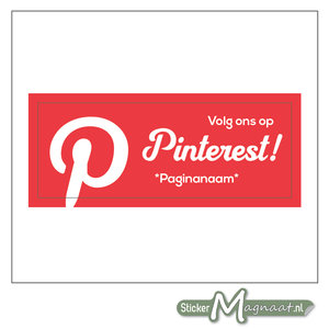 Pinterest Banner Sticker (Rood)