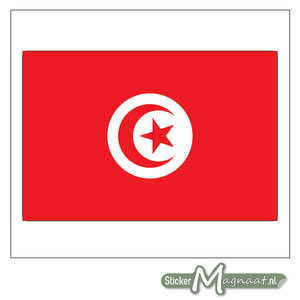 Vlag Tunesië Sticker