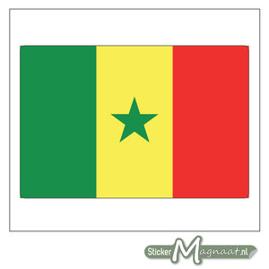 Vlag Senegal Sticker