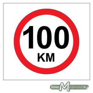 100 KM Bord Sticker