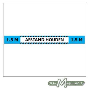 1,5 Meter Afstand Houden Sticker