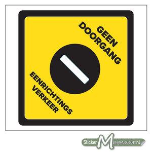 Geen Doorgang Sticker - Geel