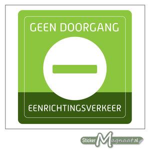 Geen Doorgang Sticker - Groen