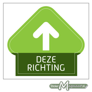 Eenrichting Sticker - Groen