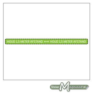 Vloerstickers 1,5 Meter Afstand Houden - Groen