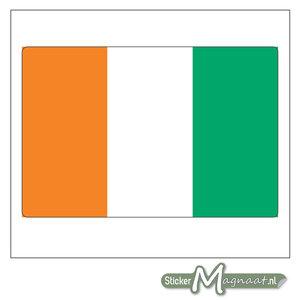 Vlag Ivoorkust Sticker
