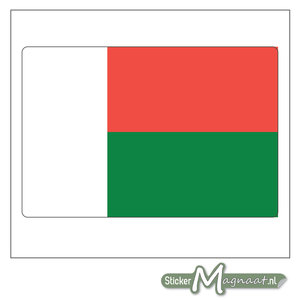 Vlag Madagascar Sticker