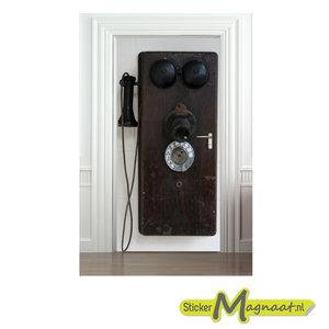 deurstickers antieke telefoon