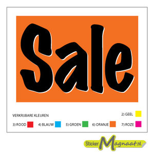 Sale stickers raamstickers