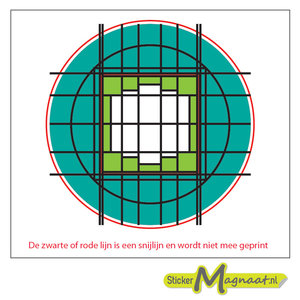 Glas in Lood Stickers - Groen