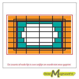 Glas in Lood Stickers - Oranje - Groen