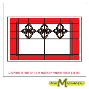 Glas in Lood Stickers - Rood