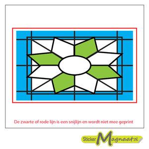 Glas in Lood Stickers - Blauw - Groen