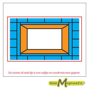 Glas in Lood Stickers - Blauw - Oranje