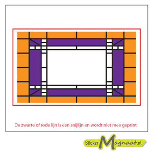 Glas in Lood Stickers - Oranje - Paars
