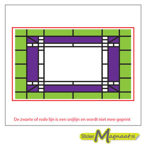 Glas in Lood Stickers - Groen - Paars