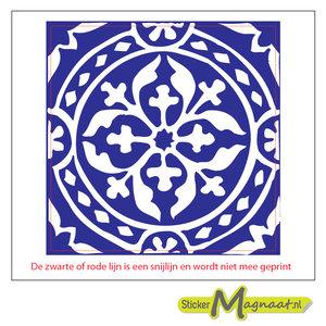 Tegelsticker arabisch patroon blauw
