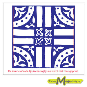 Tegelsticker arabisch kruis