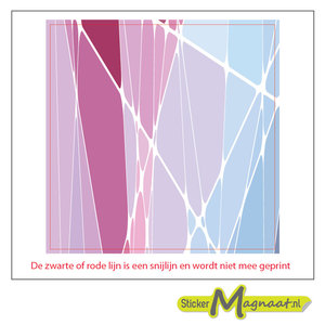 Tegelsticker Abstract glas roze
