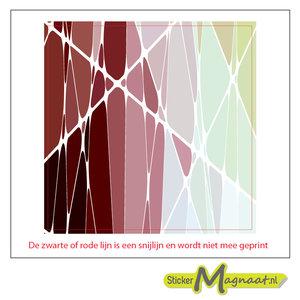 Tegelsticker abstract glas