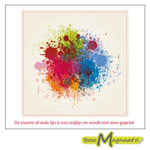 Tegelsticker - art paint