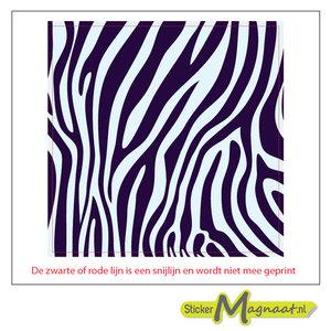 Tegel stickers Zebra