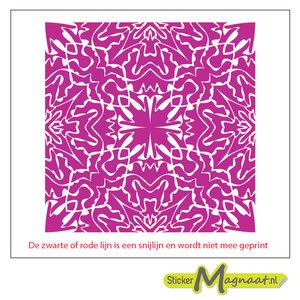 Tegelsticker Arabisch patroon roze