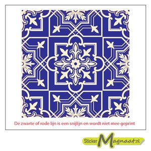 Tegel sticker marokaans barok negatief