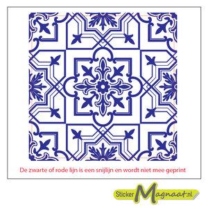 Tegel sticker marokkaans barok