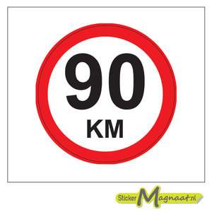 90 km stickers