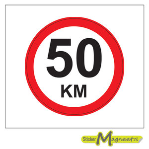 50 KM Bord Stickers