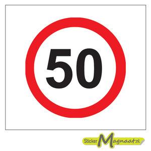 50 Km Bord Stickers Kopen Stickermagnaat Nl Online