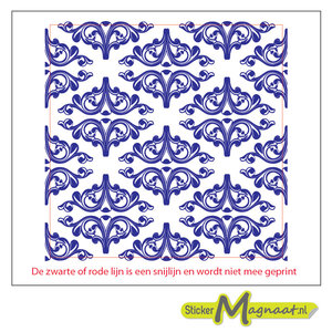 Tegelstickers barok blauw