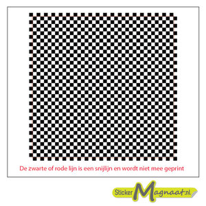 Tegelsticker zwart wit vierkant