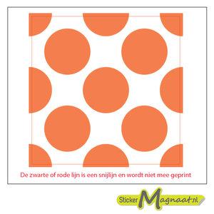Tegelstickers cirkels oranje