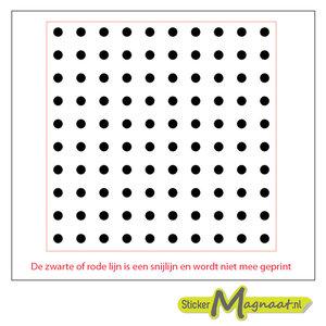 Tegelsticker kleine cirkels zwart wit
