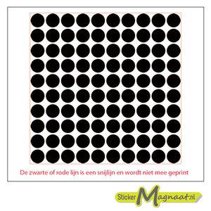 Tegelsticker zwarte cirkels in vierkant