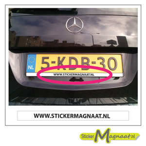 nummerbord sticker