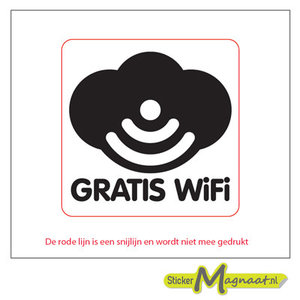 gratis wifi sticker
