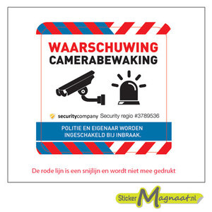 camera bewakingssticker