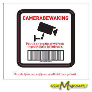 camera bewaking sticker