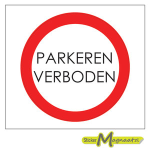 Parkeren Verboden Stickers