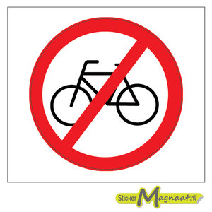 verboden fiesten te plaatsten sticker