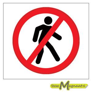 Verboden Te Lopen Stickers Kopen Stickermagnaat Nl