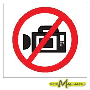Verboden Te Filmen Stickers Kopen Stickermagnaat Nl
