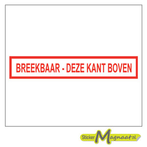 breekbaar stickers