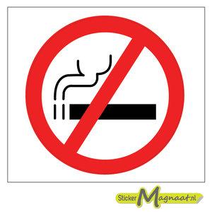 verboden te roken bord sticker
