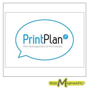 Logo sticker printplan