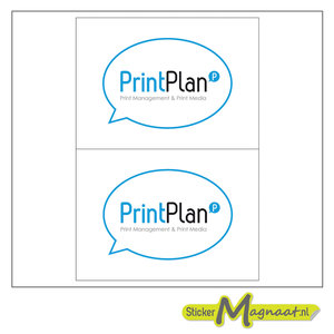 Logostickers printplan drukwerk
